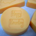 Halloween Crafts - How to Make Embossed Soaps with Unmounted Rubber Stamps