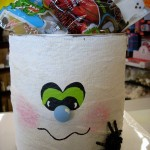 Halloween Crafts - Paint Can Mummy Treat Tote
