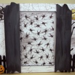 Halloween Decor - Spooky Shutter Photo Frame