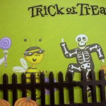 Halloween Crafts - Trick or Treat Photo Frame