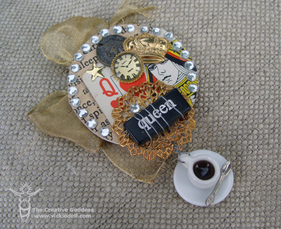 Ode to Alice Mixed Media Brooch