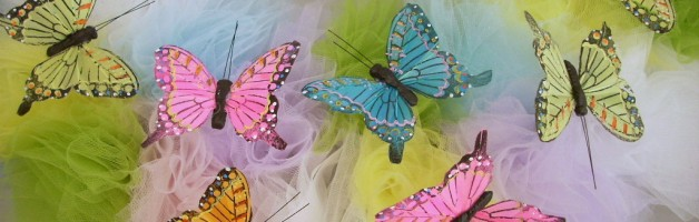 Tulle and Butterfly Wreath