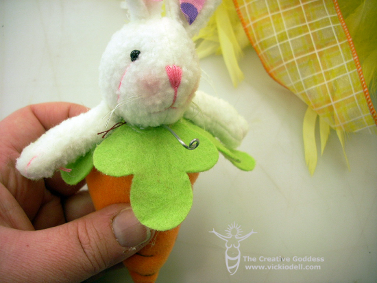 plush bunny for Easter wreath