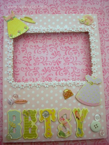 Decorate MDF Frames with Scrapbooking Supplies