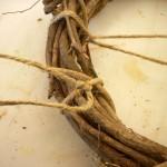Clay Pot Saucer and Grapevine Wreath Bird Feeder