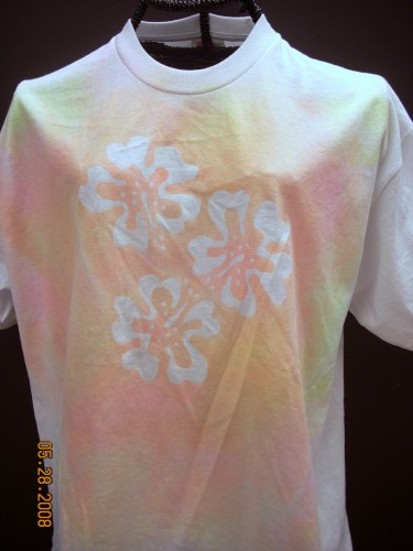 Elmer's Glue and Simply Spray T-shirts