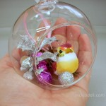 Clear Glass Panoramic Ornament for Christmas