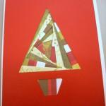 Iris paper folding, christmas card