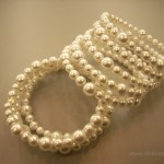faux pearls, beadalon memory wire