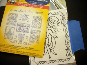 Metal Embossing with Aunt Marthas Iron On Transfers