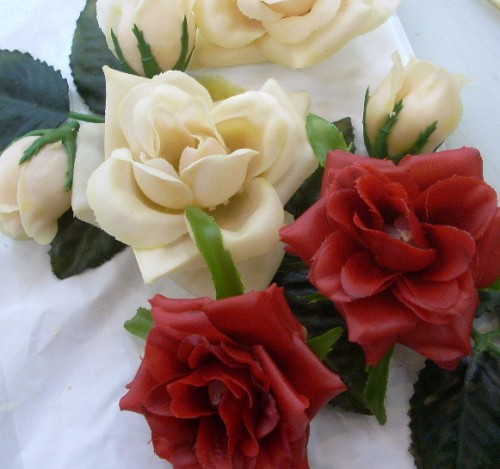 Beeswax Coated Roses for Vintage Inspired Valentine's Day Crafts