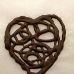 Lacy Chocolate Heart Garnish for Valentine's Day