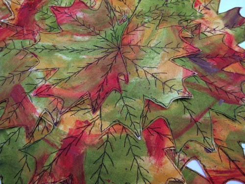 Blog Book Tour: Sew Wild by Alisa Burke – Fall Leaves Table Runner