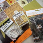 Halloween Crafts - Martha Stewart Papers and Memory Glass Ornaments