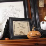 Thrifting Thursday - Vintage Needlework As Wall Art (and Halloween Decor)
