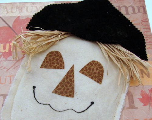 Harvest Festival Scarecrow Treat Bag