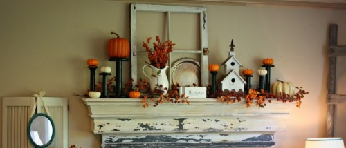 Inspiration For Fall Mantle Decorating