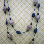 lava beads, ceramic beads, necklace