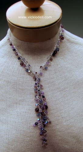 Dressy Necklace, Swarovski Crystals