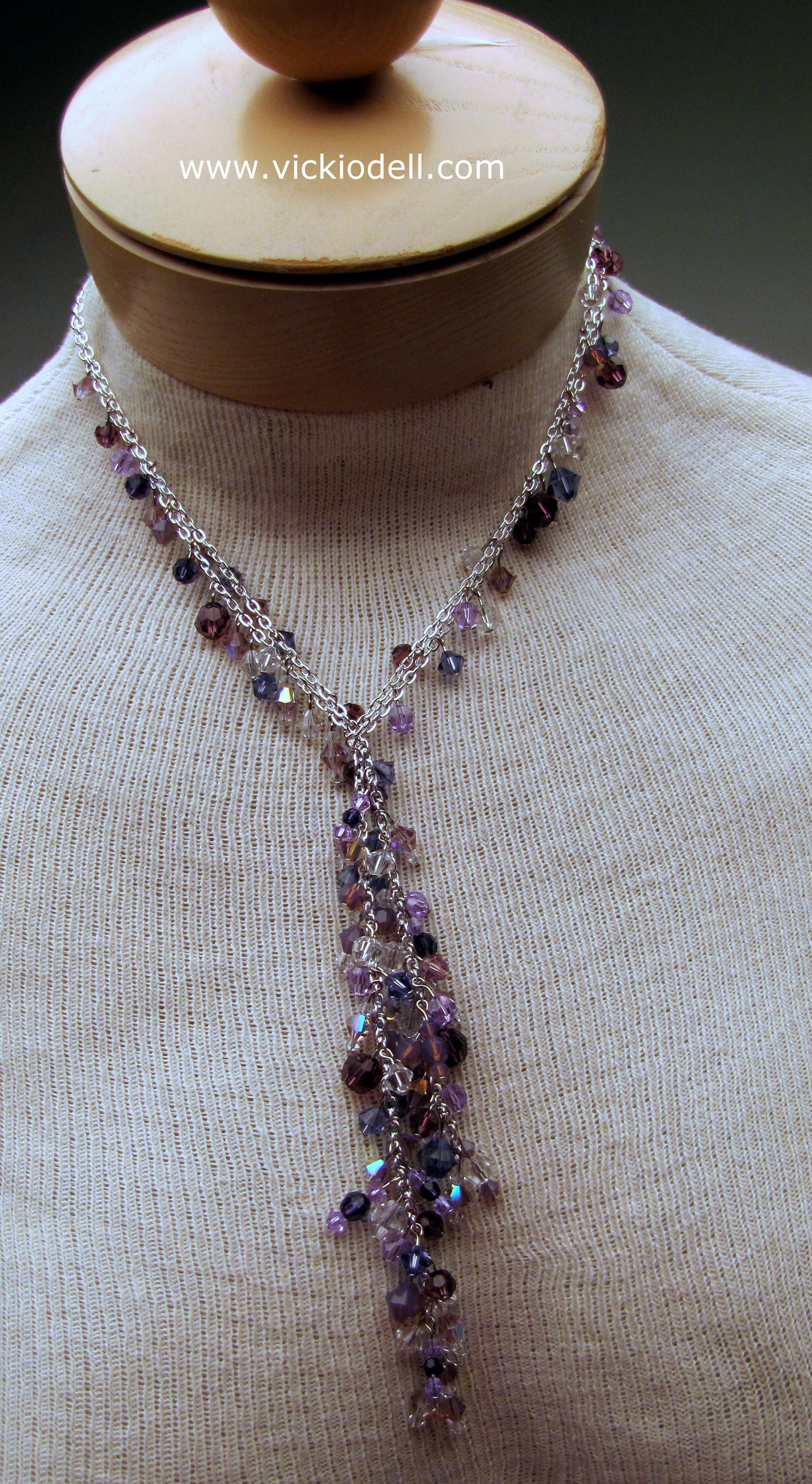 Dressy Lariat with Swarovski Crystals
