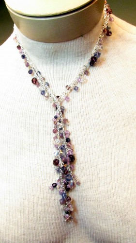 Easy to Make Jewelry with Chain and Crystals - Simple loops and Swarovski Crystals