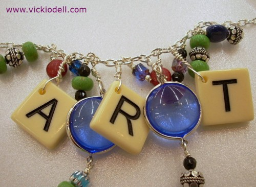 Toolbox Tuesday: The Fiskars Craft Drill and a Mixed Media Game Piece Necklace