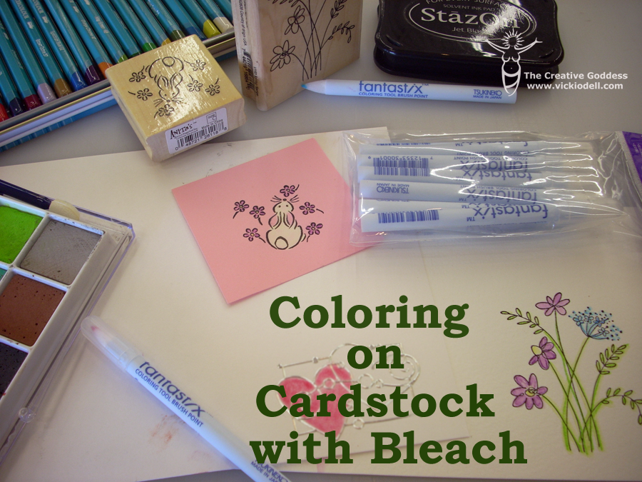 Card Making and Paper Crafting Techniques - Coloring with Bleach