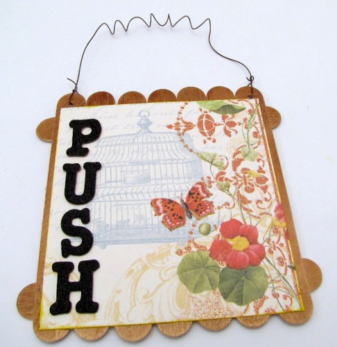 Push, Change, Grow – Inspirational Mixed Media Wall Hanging