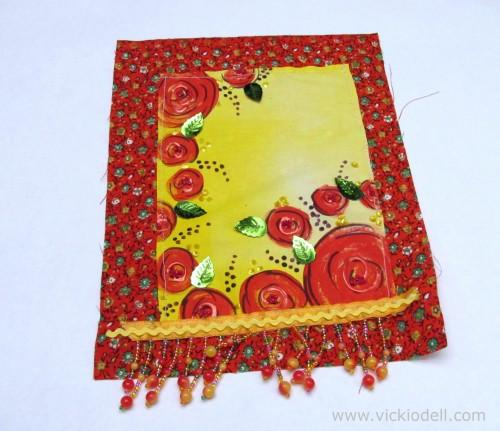 Grateful for Summer Flowers Gratitude Flag