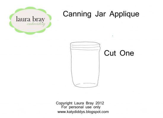 Sew Up a Canning Jar Bag to Hold Canning Jar Rings