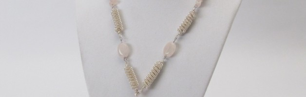 Make a Coiled Wire Bead and Rose Quartz Necklace