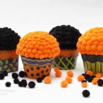 Halloween Cupcake Paper Mache Favor Boxes
