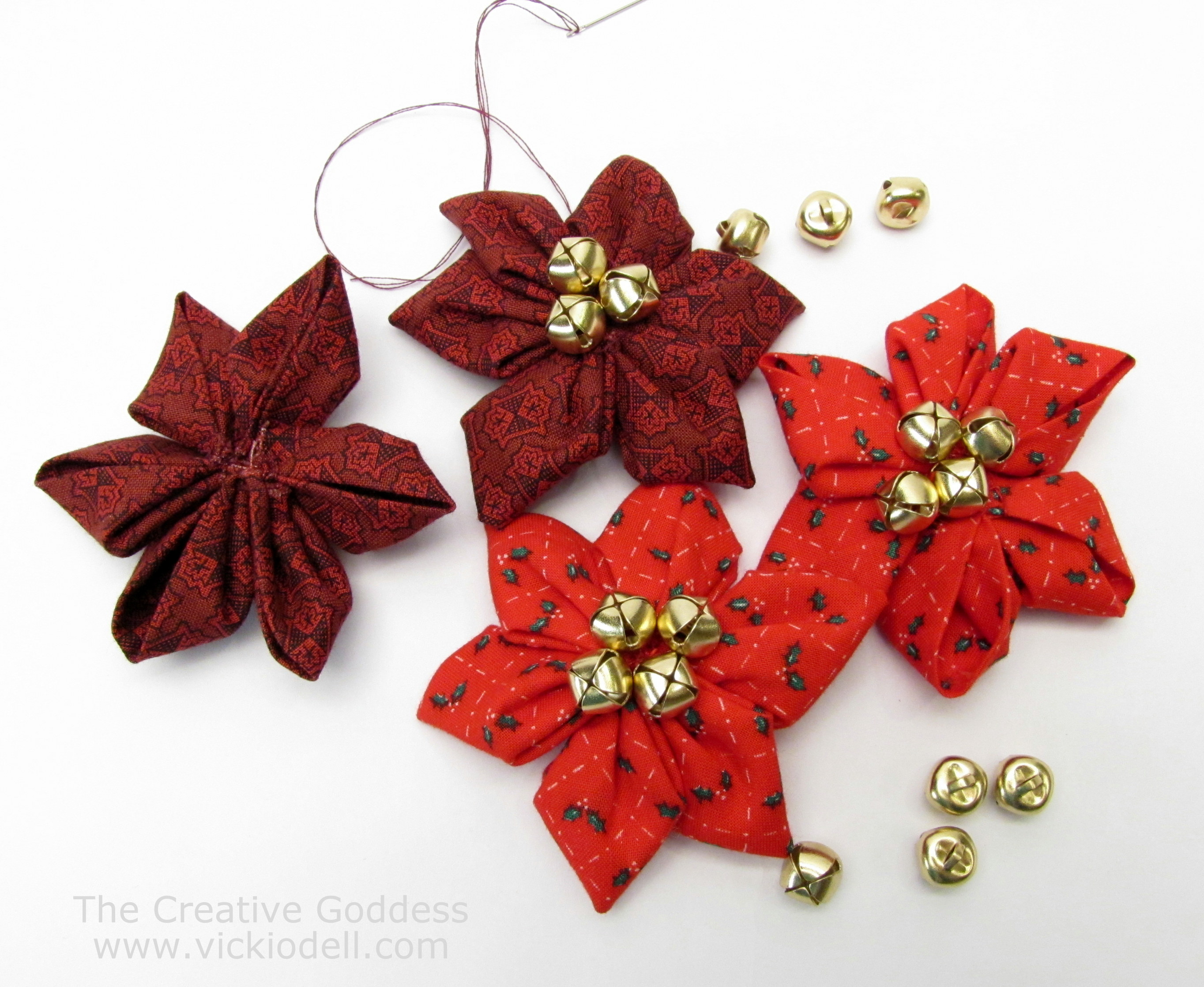 Christmas Crafts Kanzashi Flower Maker Poinsettias For Christmas Crafts