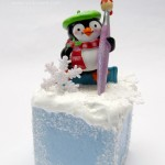 Penguin Christmas Ornament, Smoothfoam, Mixed Media Winter Decoration