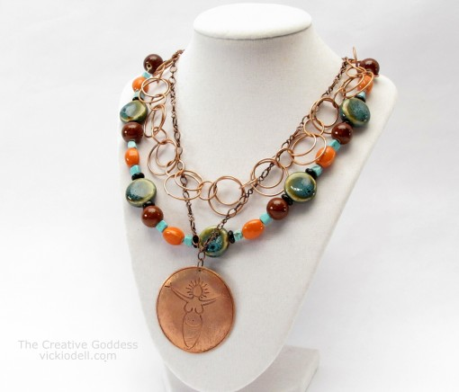A New Necklace – Combining Chains and Strung Beads