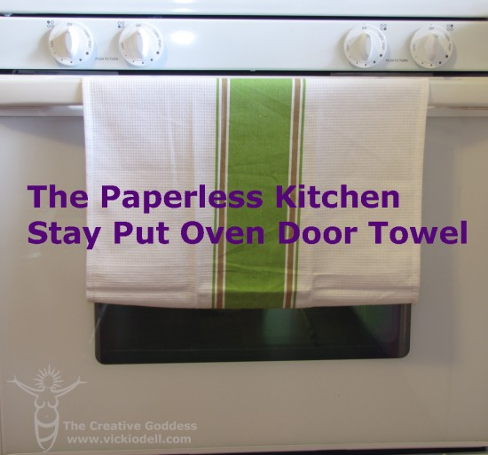 The Paperless Kitchen – Stay Put Oven Door Towel