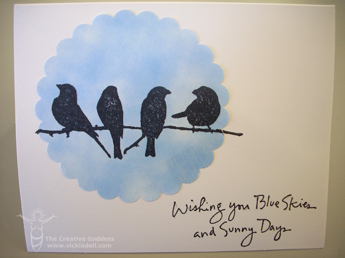 Card Making: Wishing You Blue Skies and Sunny Days