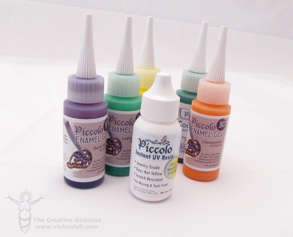 Paper Craft Embellishments with Piccalo Enamel Gels and UV Resin