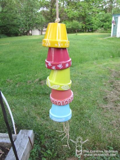 Garden Crafts: Clay Pot Chain