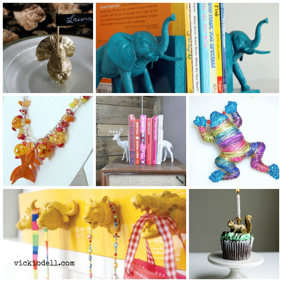 14 Crafts to Make with Plastic Animals