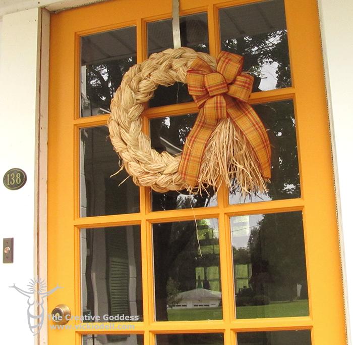 Double Braided Raffia Wreath