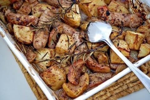 Apple-Sausage-Roast