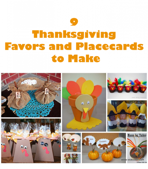 9 Thanksgiving Placecards and Favors to Make