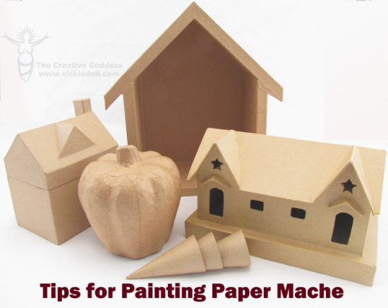 Tips for Painting on Paper Mache