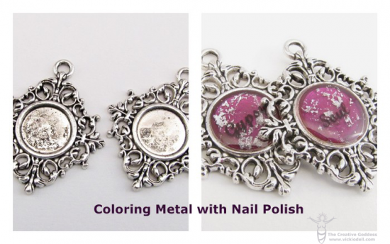 Adding Color to Metal with Nail Polish