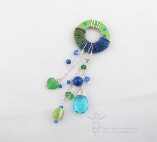 Wooly Wire Funky Pendant