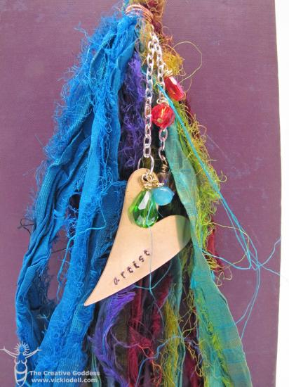 Stamped Metal Gypsy Tassel