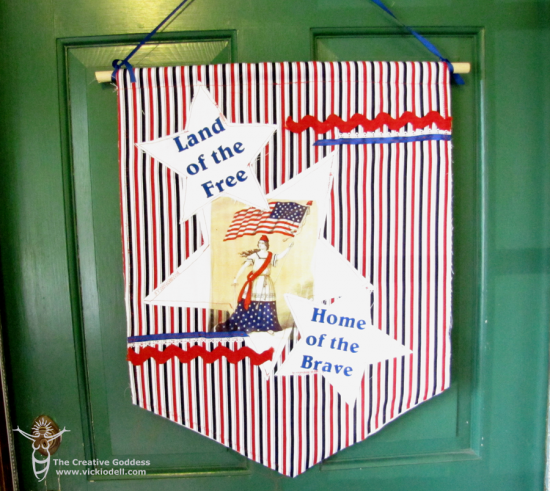 4th of July Door Banner with the Craft Attitude Blog Hop