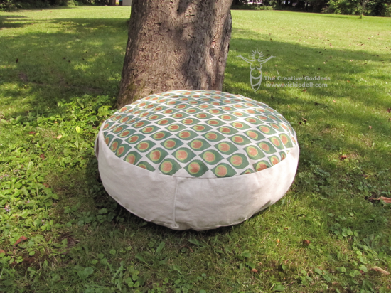 Make a Hand Painted Meditation Pouf