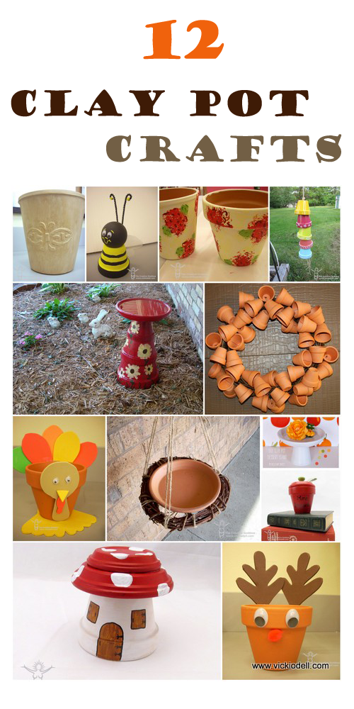Clay pot crafts vicki odell